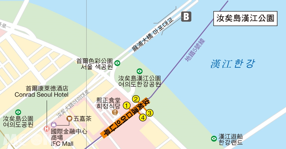 首爾麻浦大橋周邊地圖
