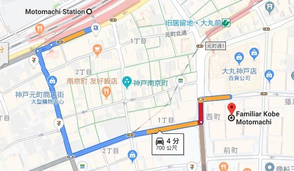 神戶familiar位置圖