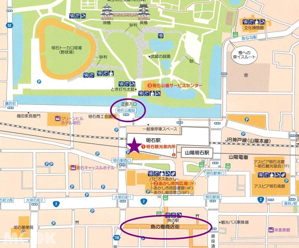 明石站周邊地圖