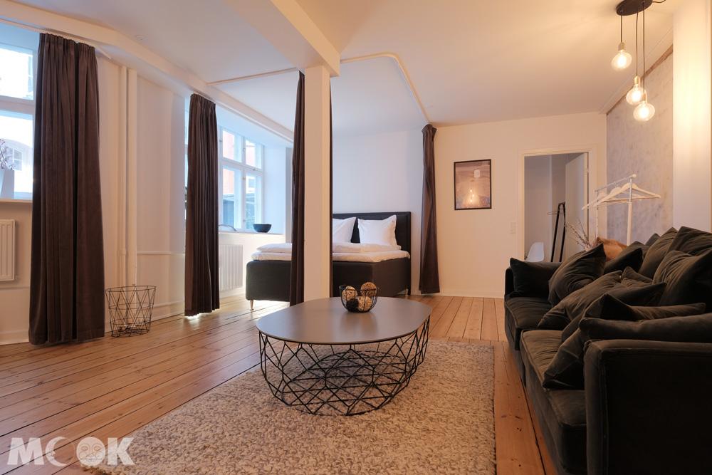 哥本哈根精品旅館式airbnb客廳