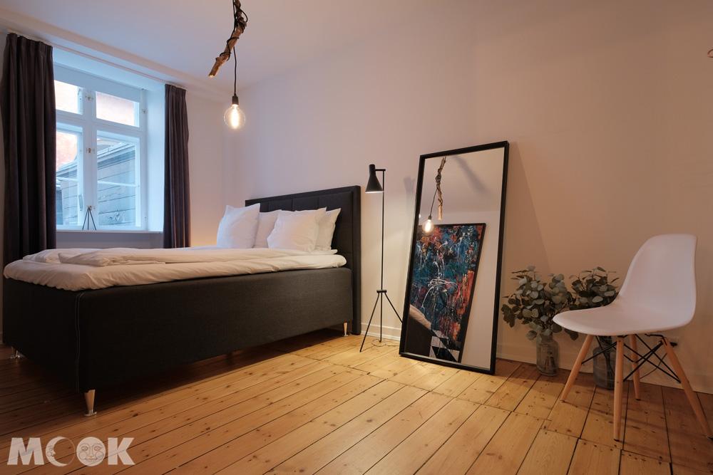 哥本哈根精品旅館式airbnb臥室