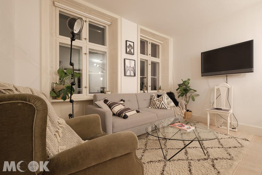 哥倫比亞公寓式airbnb客廳