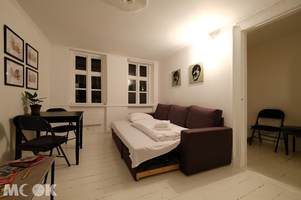 哥本哈根歷史公寓airbnb客廳