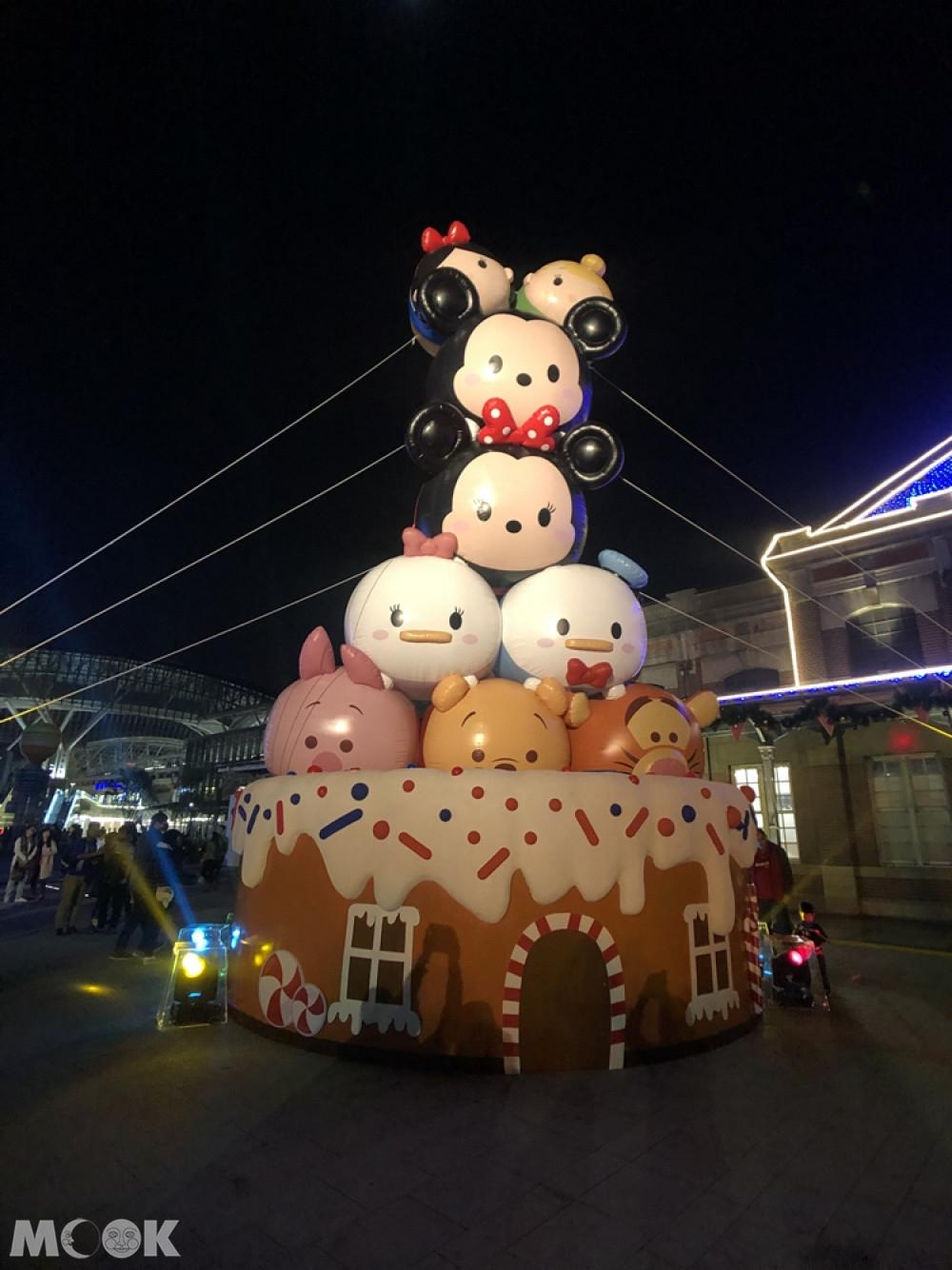 2019臺中耶誕夢想世界 tsumtsum大蛋糕