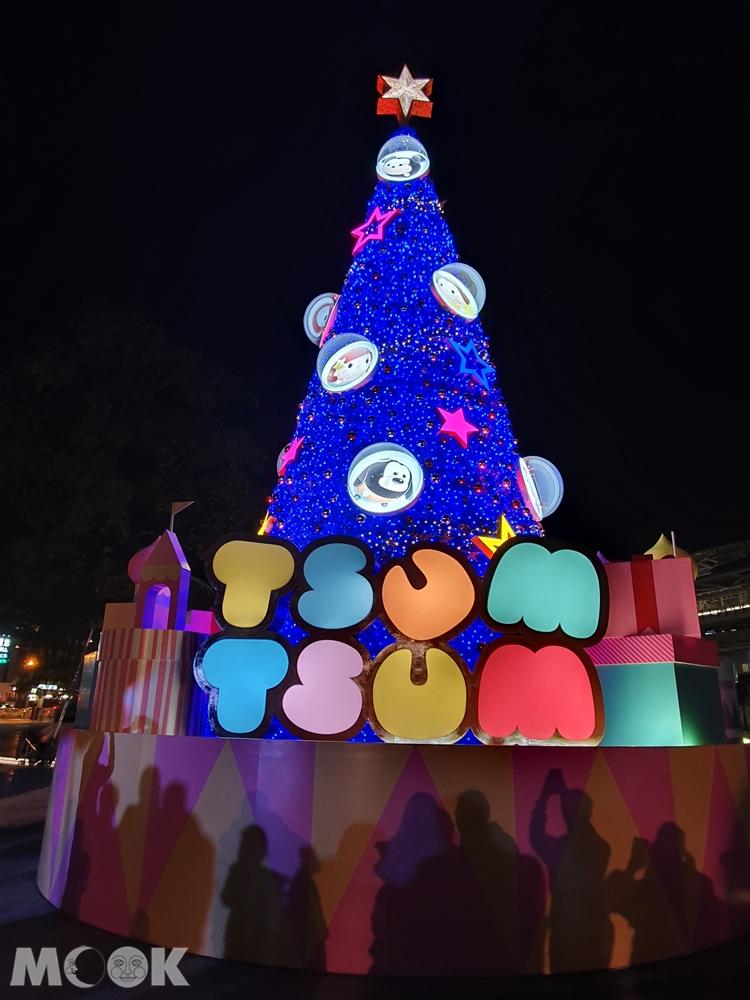 2019臺中耶誕夢想世界 tsumtsum聖誕樹