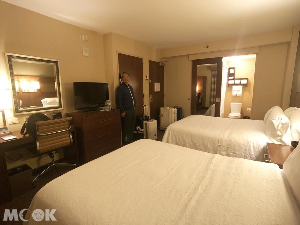 曼哈頓聯合國希爾頓恒庭飯店房間