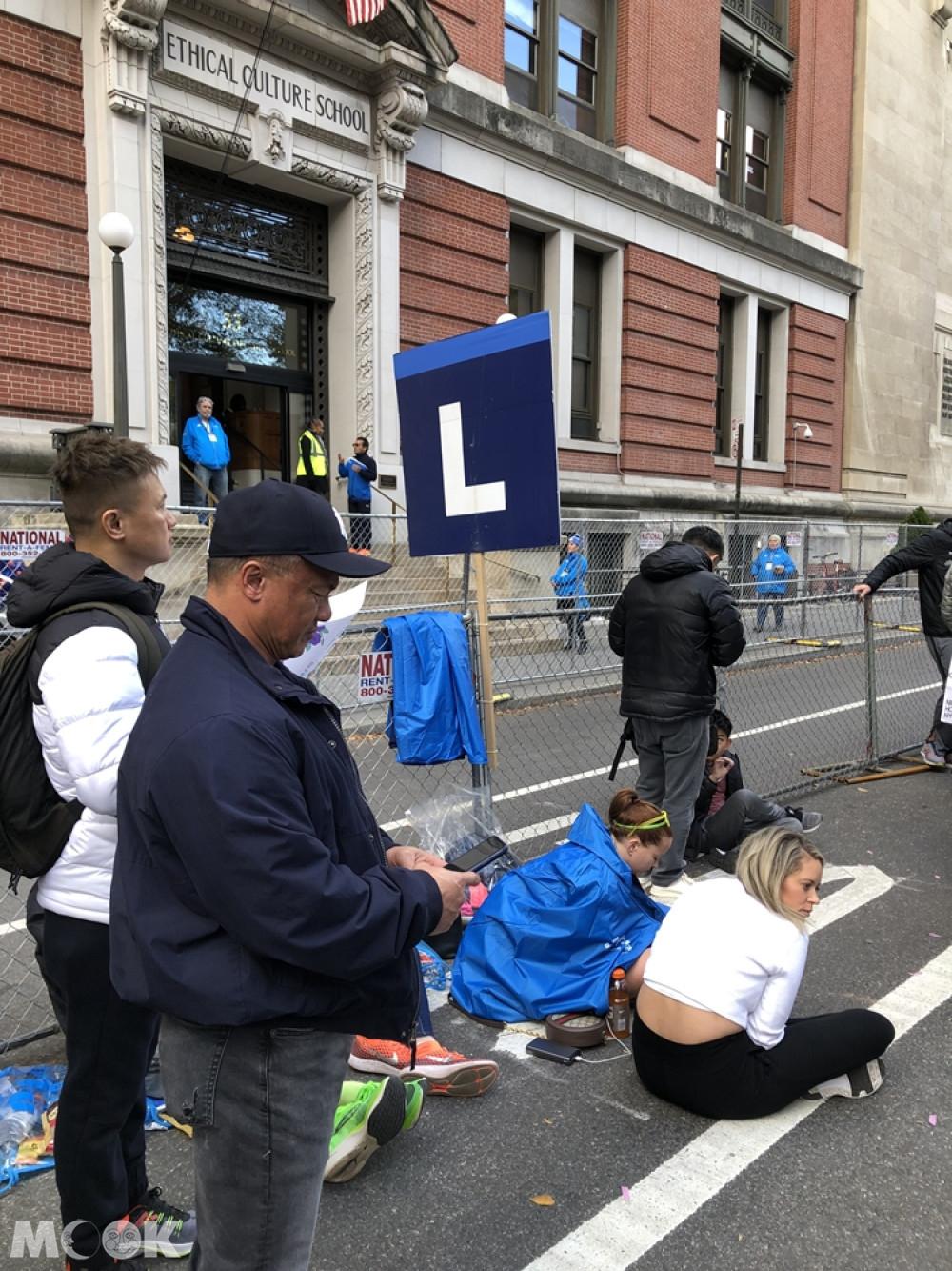 紐約馬拉松親友會面區