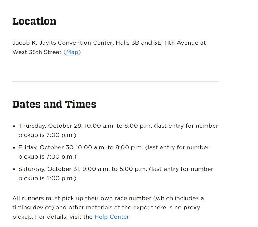 紐約馬拉松expo時間地點