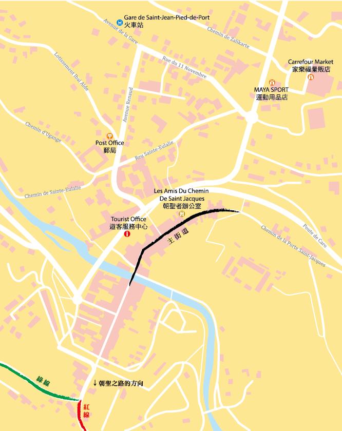 朝聖之路地圖