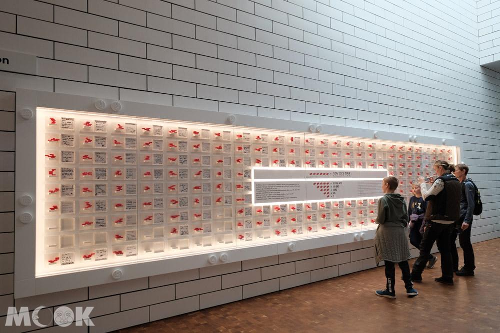 比隆樂高之家紅色長方磚展示牆