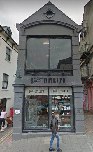 英國Brighton布萊頓的商店Utility