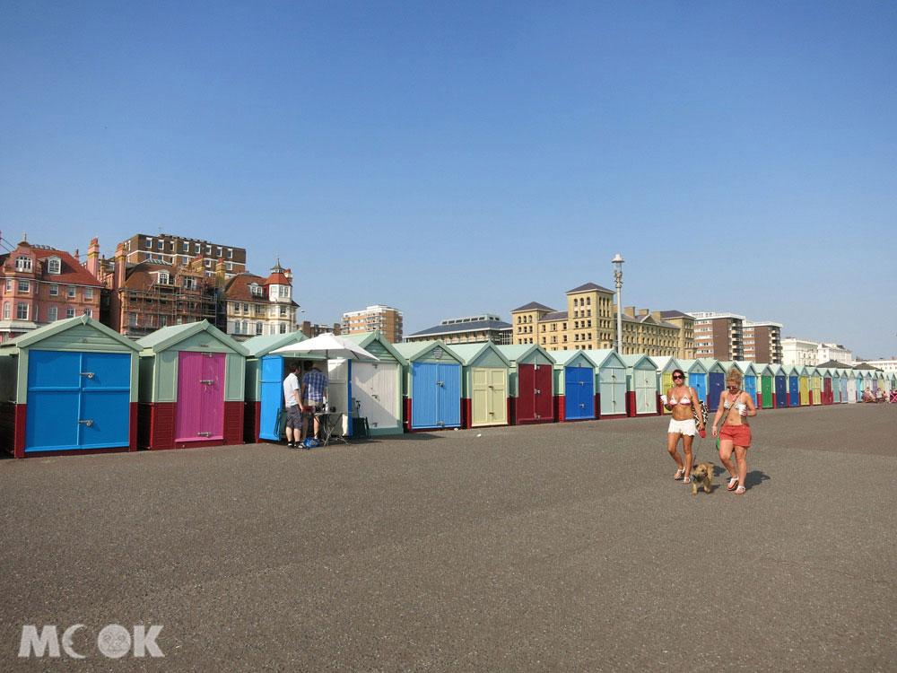 不少遊客會到布萊頓Brighton的彩色小屋打卡拍照