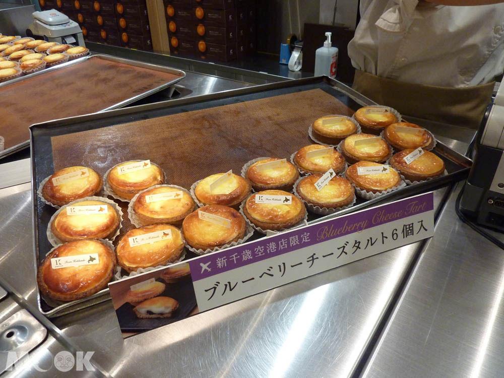 新千歲機場KINOTOYA販賣的現烤起士塔