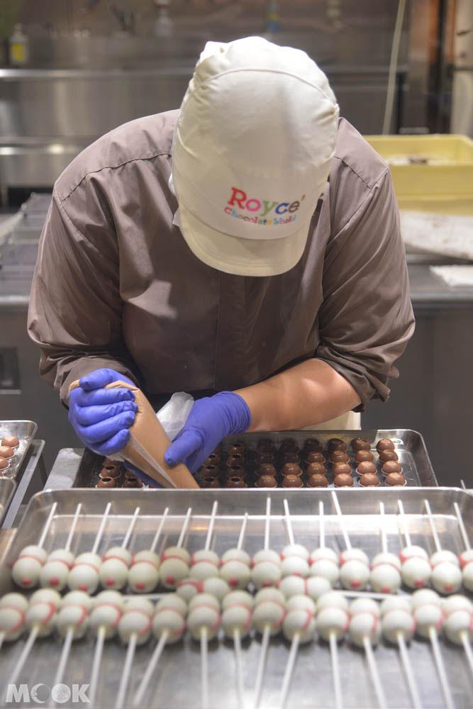 新千歲機場的Royce巧克力製作現場