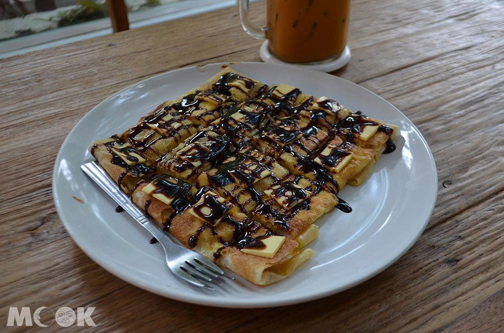 泰國 清邁 尼曼明路 泰國美食 清邁美食 小吃 甜點 Guu Fusion Roti & Tea香蕉煎餅