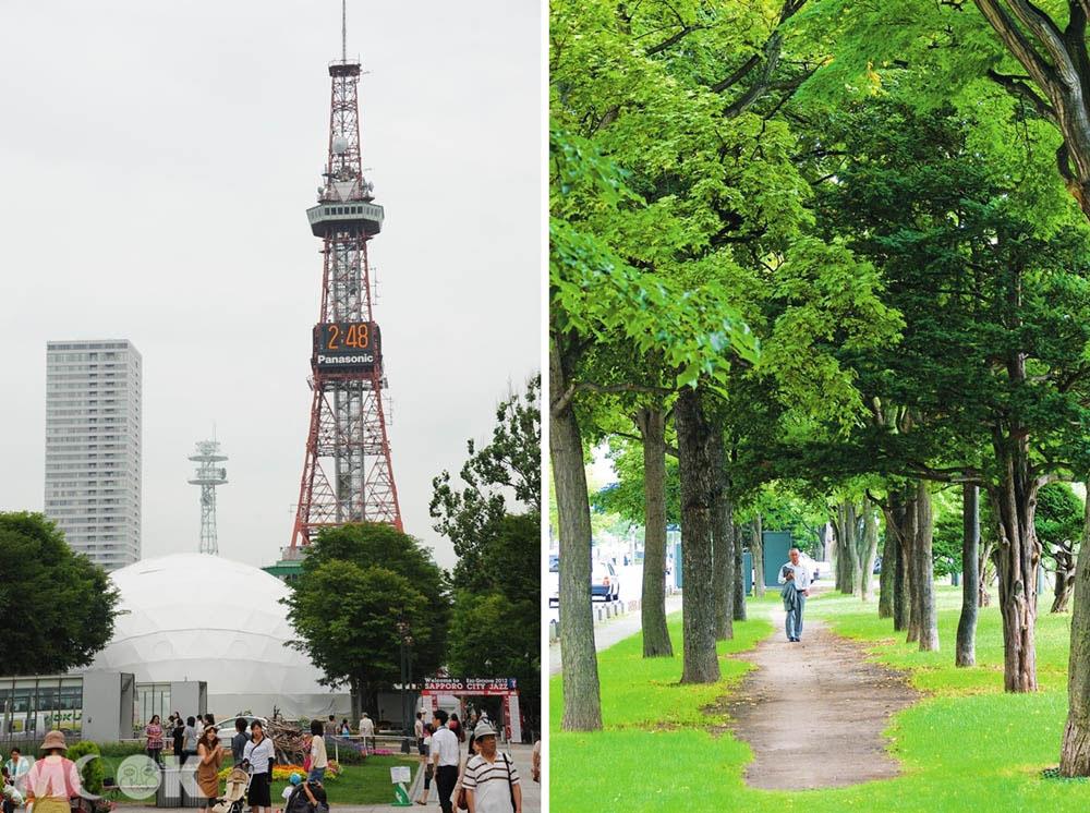 大通公園與札幌電視塔