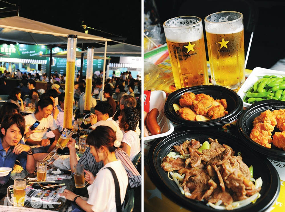 札幌大通公園夏季舉辦的啤酒節活動