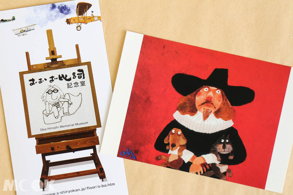 札幌資料館內販售的おおば比呂司插畫小物