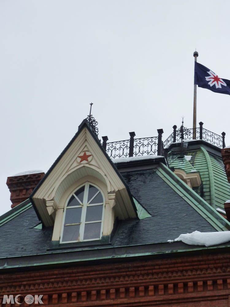 北海道廳舊本廳舍內的圓頂與五角星標記