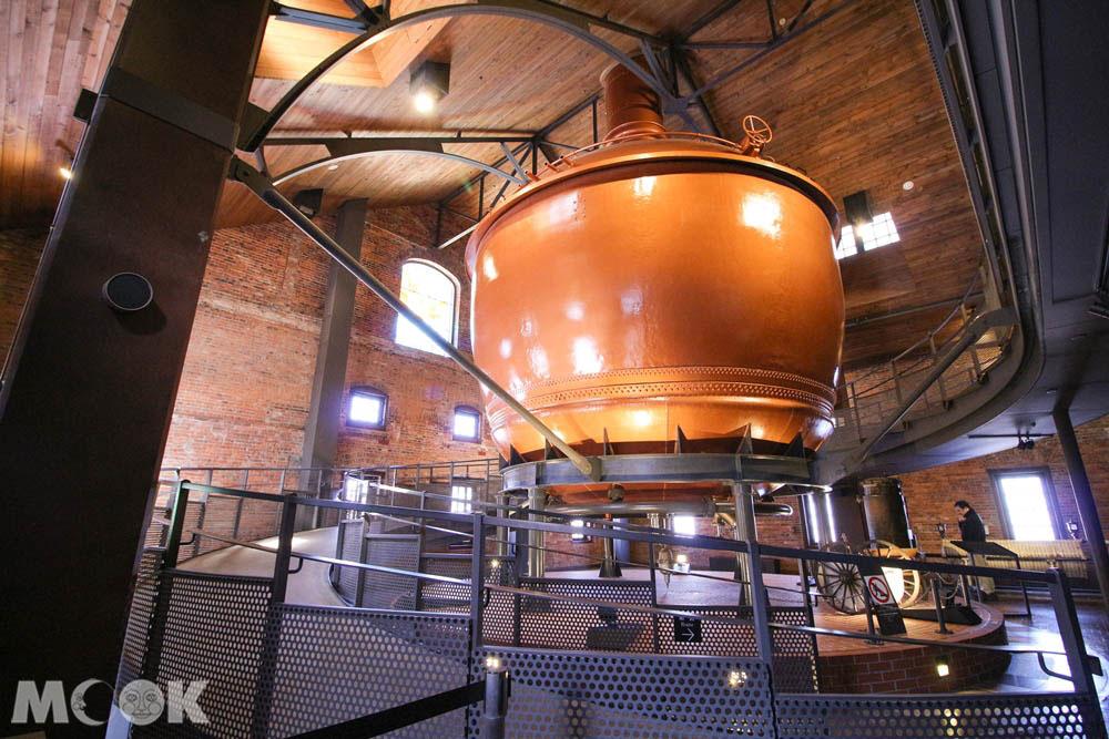 札幌啤酒博物館內的酒槽