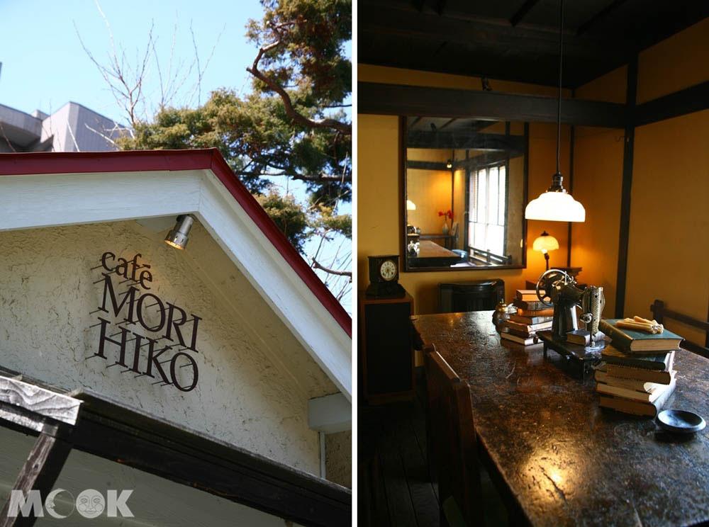森彥咖啡本店的外觀與店內