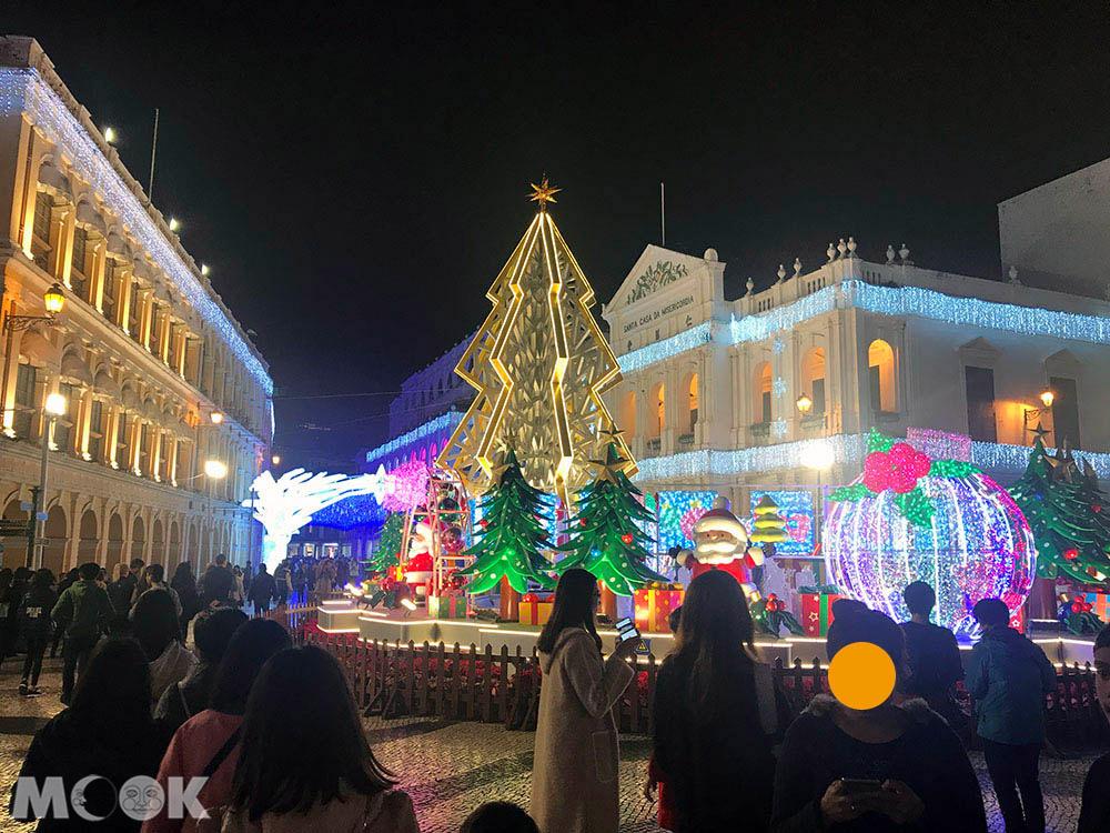 中國 澳門 聖誕節 議事亭前地