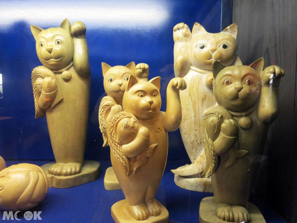 招財貓美術館(招き猫美術館)木雕招財貓