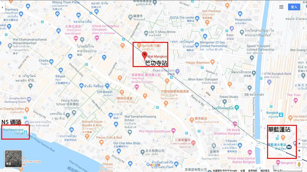 泰國 曼谷 中國城 地鐵 地圖