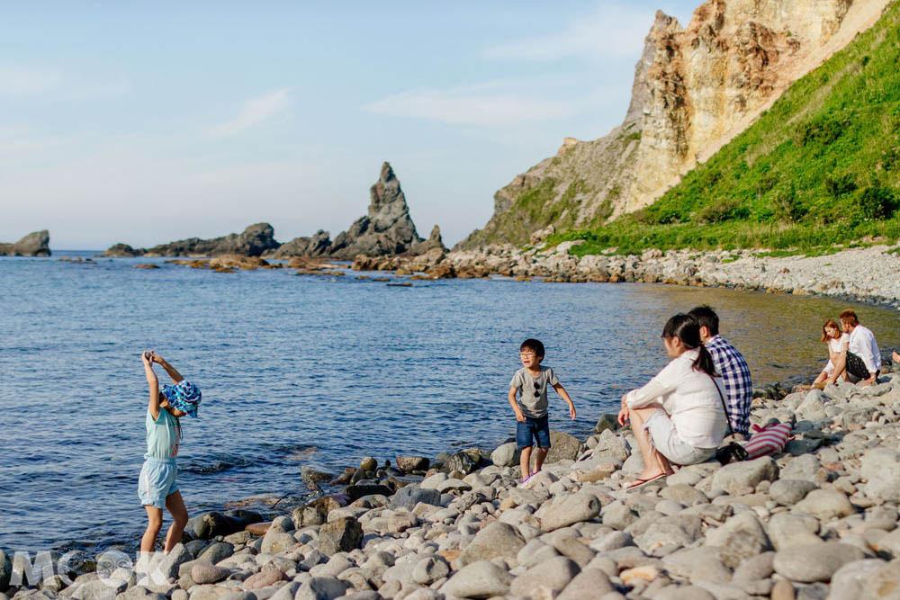 北海道積丹島武意海岸的沙灘