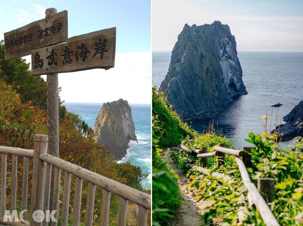 北海道積丹島武意海岸的步道風景