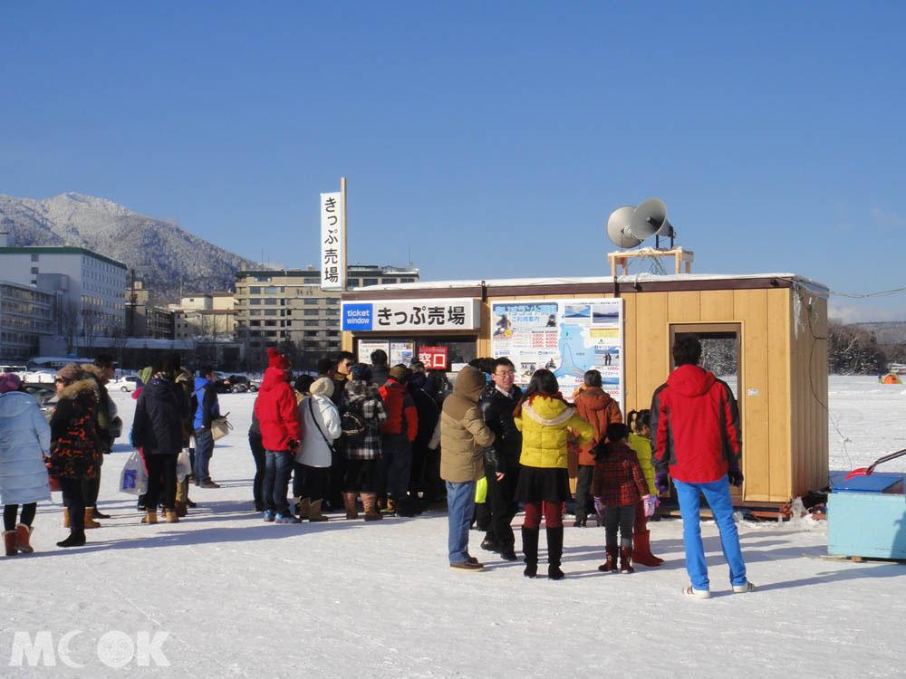 北海道阿寒湖冬日的Ice Land AKAN