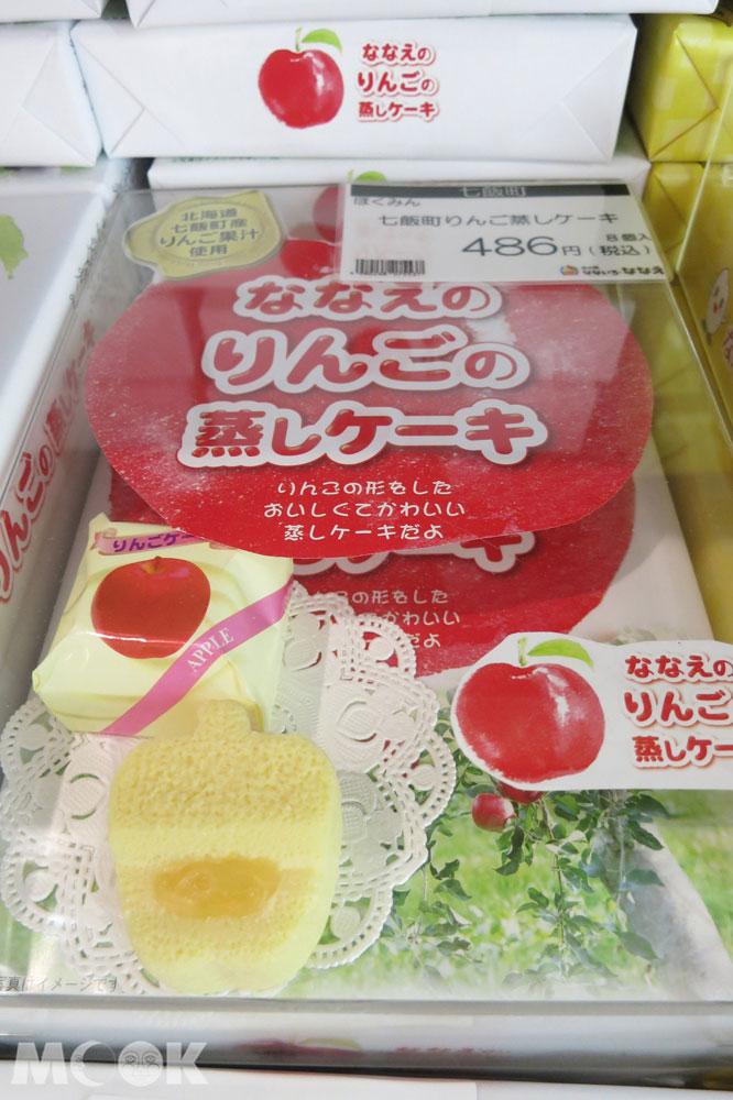 北海道七飯町的道の駅なないろ・ななえ(七色・七飯休息站) 蘋果造型小蛋糕