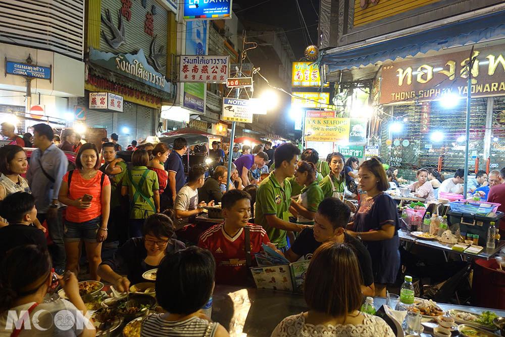 泰國 曼谷 中國城 夜市 海鮮大排檔 T&K