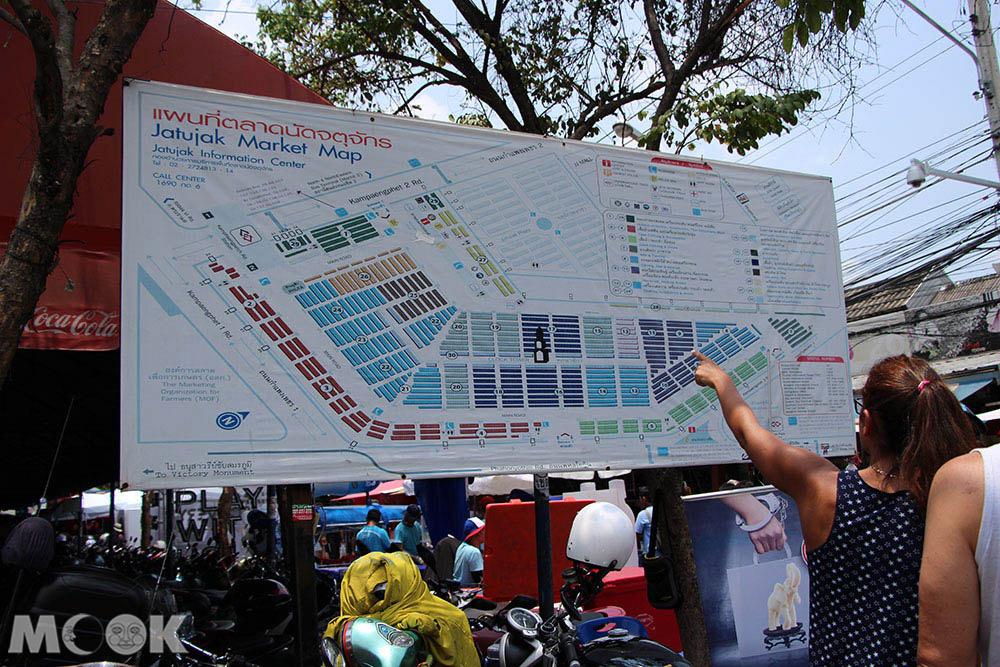 泰國 曼谷 恰圖恰 週末市集 地圖