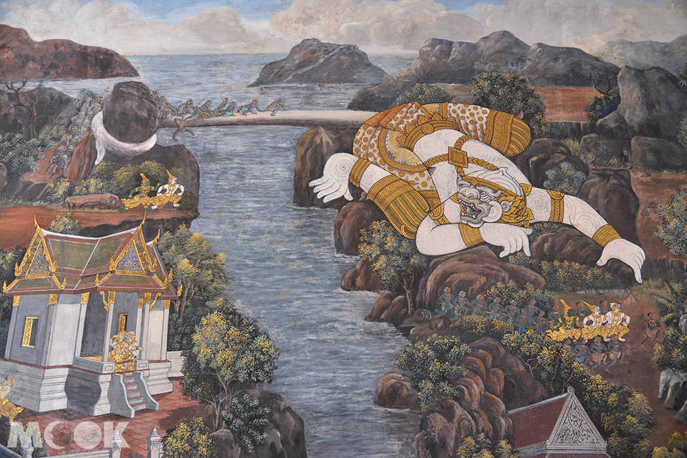 泰國 曼谷 大皇宮 玉佛寺 迴廊壁畫 羅摩衍那 神話故事