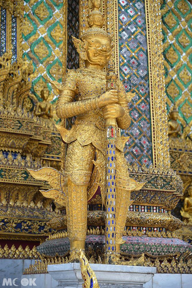 泰國 曼谷 大皇宮 玉佛寺 藏經閣 夜叉