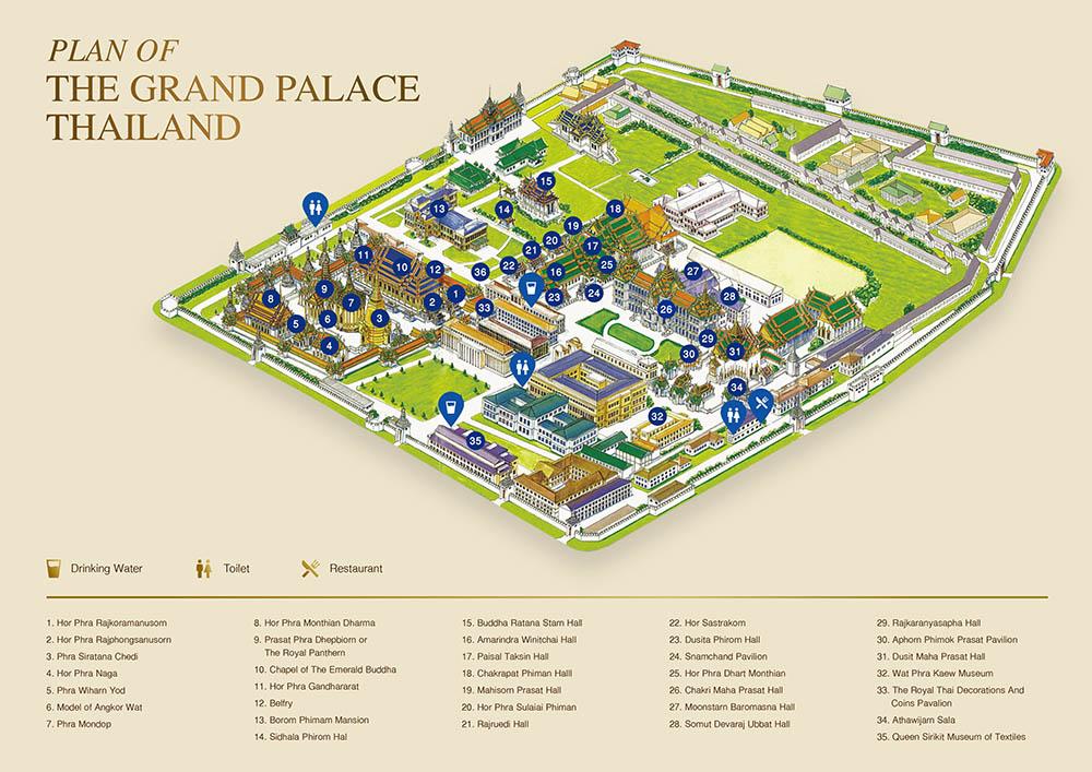 泰國 曼谷 大皇宮 玉佛寺 地圖
