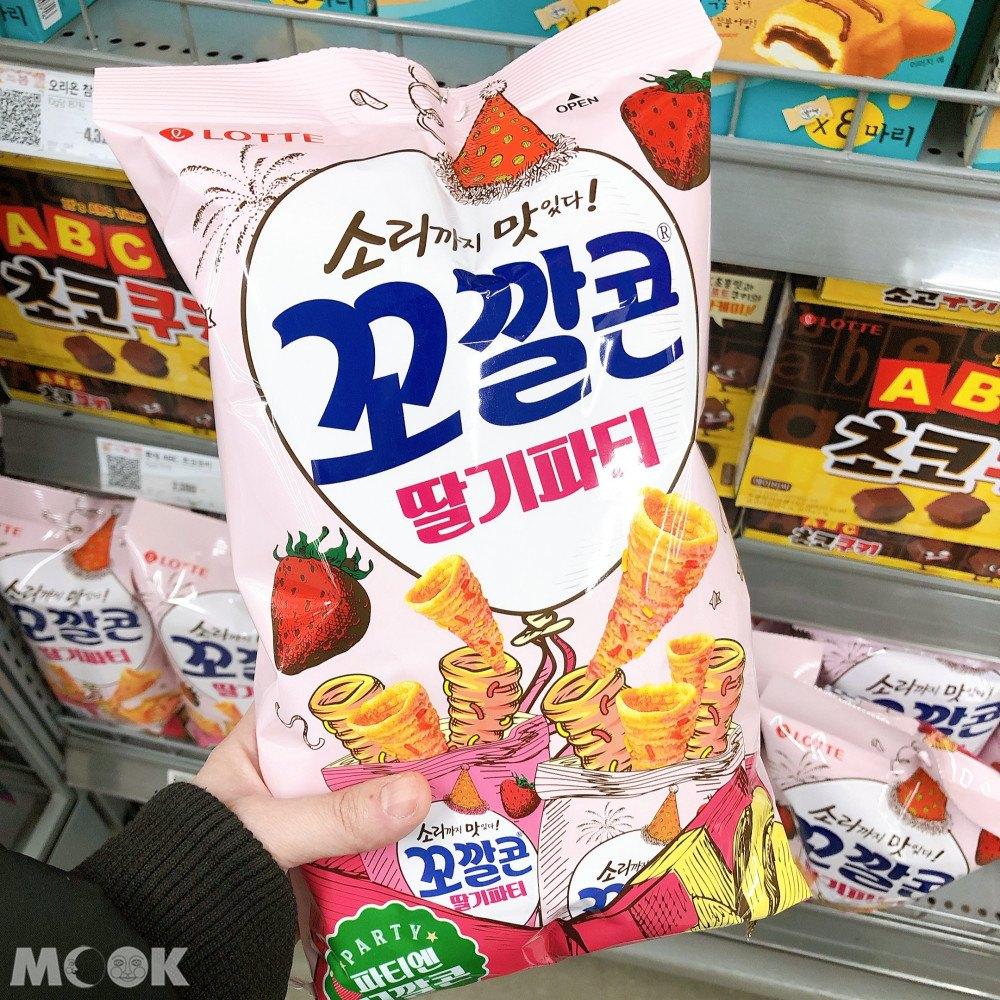 韓國金牛角新出的草莓派對口味包裝