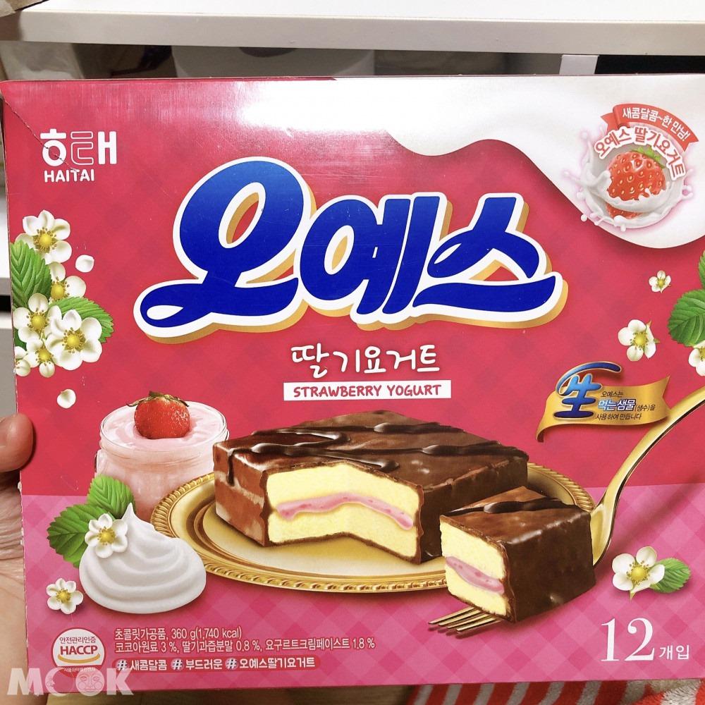 海太 OH YES巧克力派-新口味 草莓優格口味