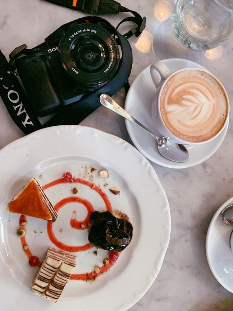 中央咖啡館蛋糕、咖啡