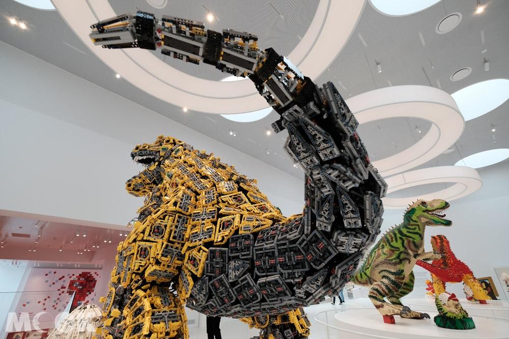 樂高之家Masterpiece Gallery中的樂高恐龍