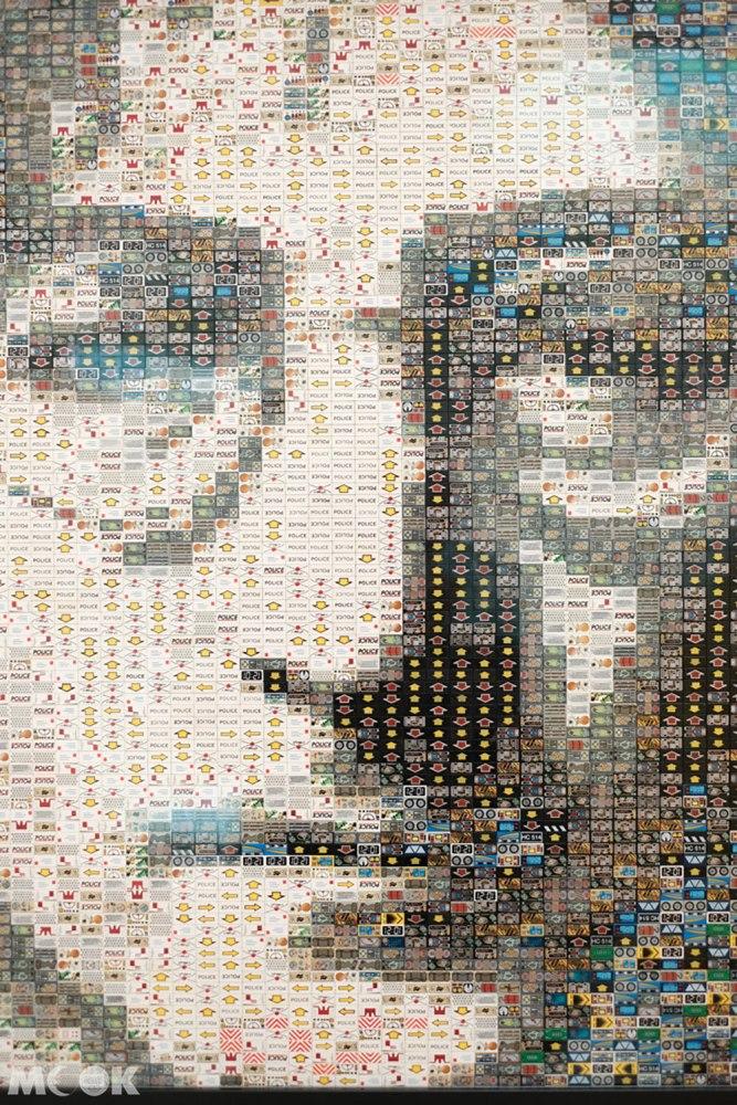 樂高之家Masterpiece Gallery中的約翰藍儂蒙太奇肖像