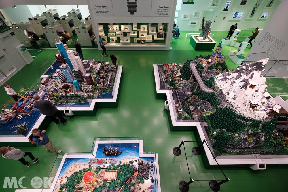樂高之家綠區中的模型