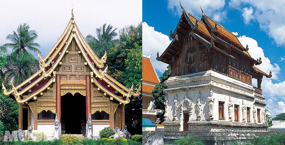 泰國 清邁 古城 寺廟 泰國寺廟 帕邢寺  萊卡僧院 藏經閣
