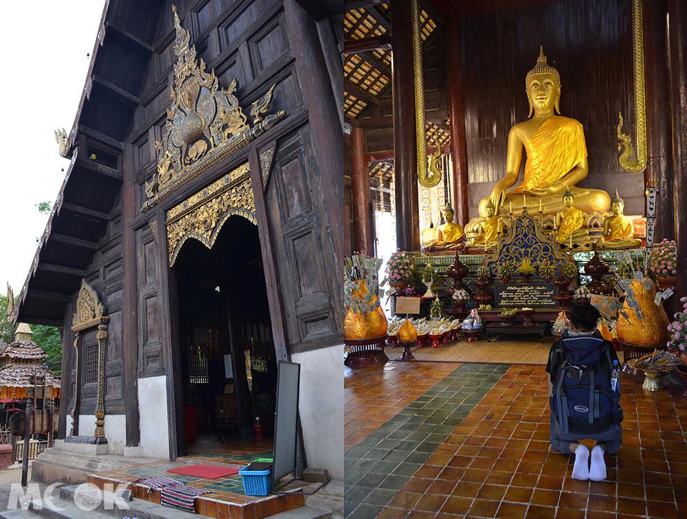 泰國 清邁 古城 寺廟 泰國寺廟 潘道寺 主殿外觀 主殿內部