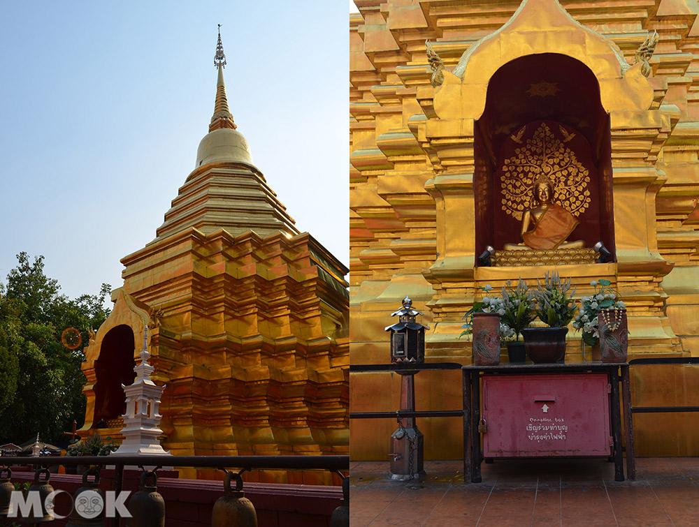 泰國 清邁 古城 寺廟 泰國寺廟 攀安寺 金色佛塔 外觀