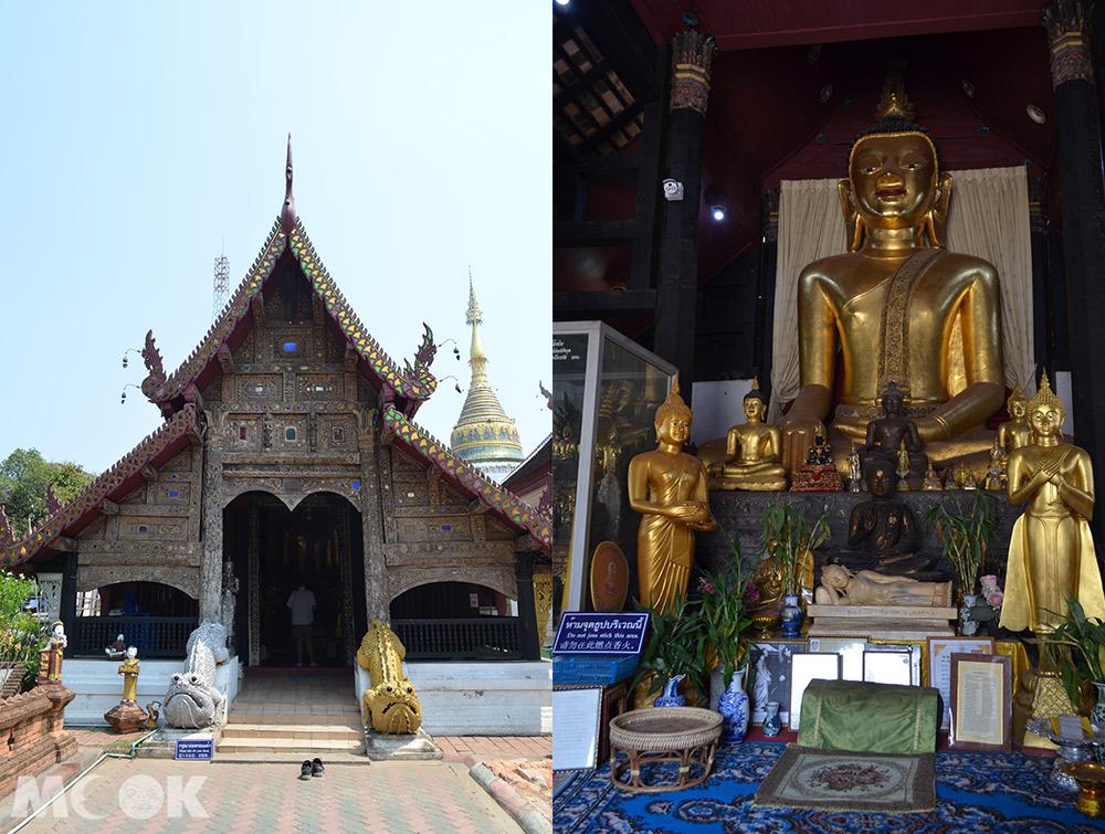 泰國 清邁 古城 寺廟 泰國寺廟 布帕壤寺 舊僧院外觀 舊僧院內部