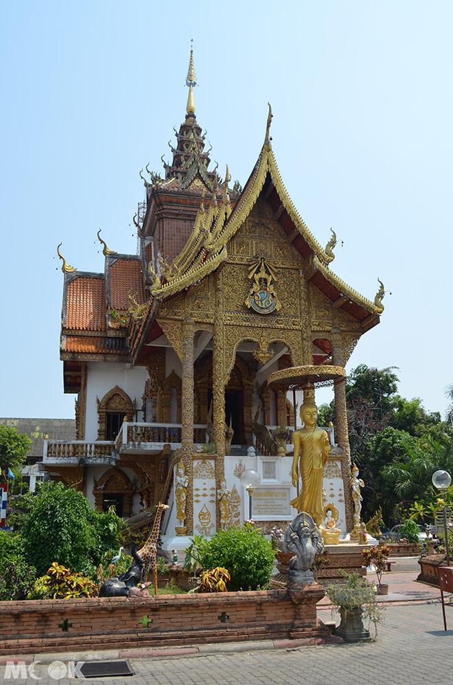泰國 清邁 古城 寺廟 泰國寺廟 布帕壤寺 新僧院外觀