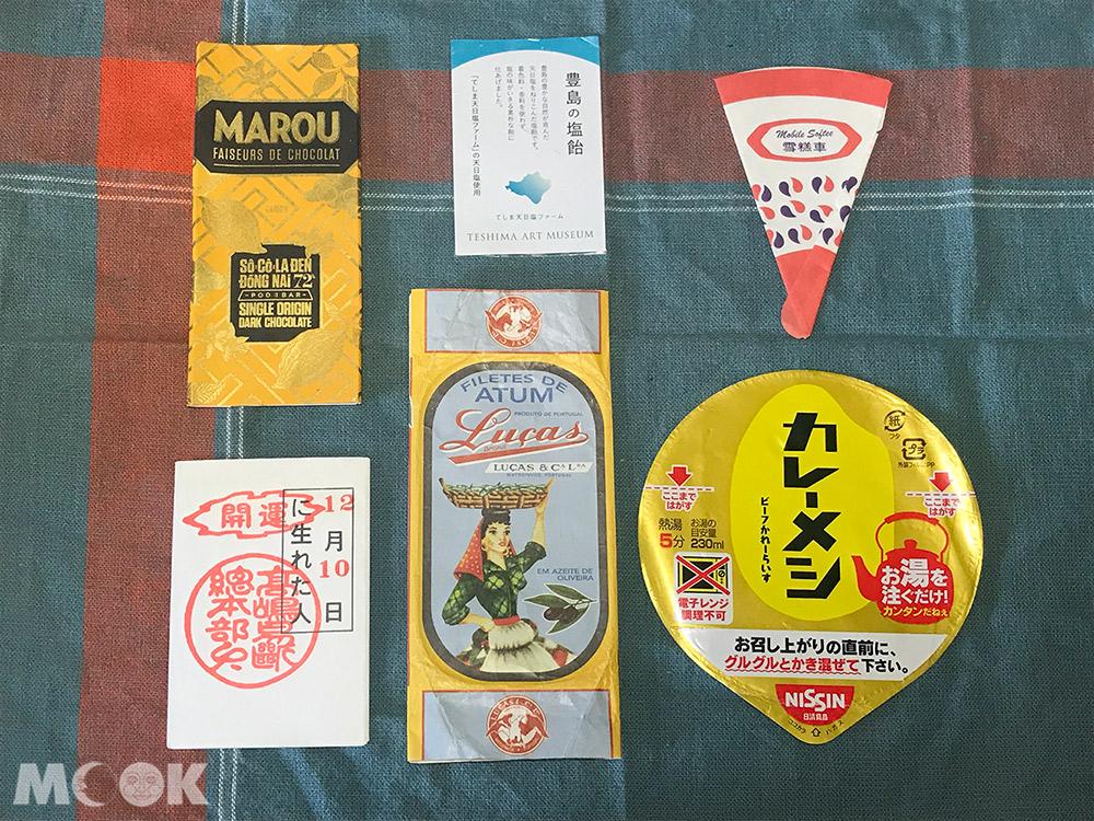 旅行 手帳 素材收集 包裝紙