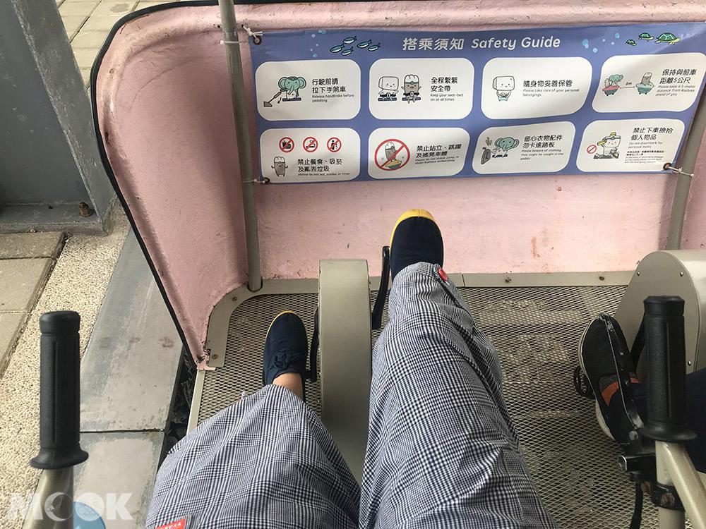 新北市 深澳鐵道自行車 八斗子站 車廂 座位 手剎車 安全帶